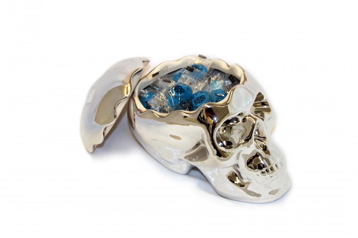skull blauw